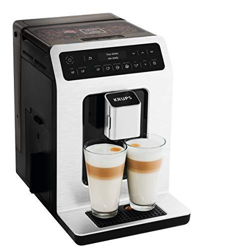 KRUPS Evidence EA890D, Ekspres do kawy ciśnieniowy automatyczny, Dwie kawy mleczne za jednym dotknięciem, Intuicyjna obsługa, 15 automatycznych programów, Szwajcarski stalowy młynek