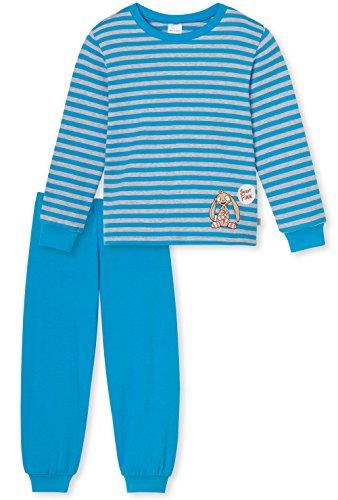 Schiesser Jungen Schlafanzug lang 154394, blau, 104