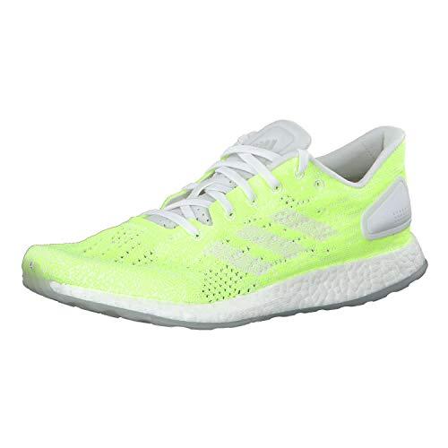 adidas Herren Pureboost DPR Ltd Laufschuhe, Weiß (FTWR White/FTWR White/Hi/Res Yellow FTWR White/FTWR White/Hi/Res Yellow), 43 1/3 EU
