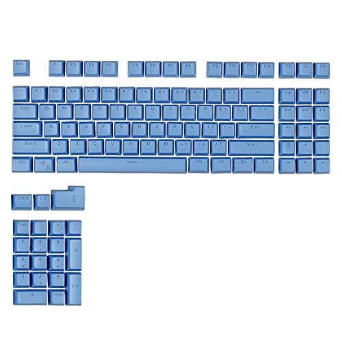 Wuyuana keycaps 112 Keys SA Perfil Retroiluminación Double-Shot KeyCaps Personalized Ball Cap KeyCap para Cherry MX Interruptor Teclado Mecánico Teclado keycaps (Color : Blue)