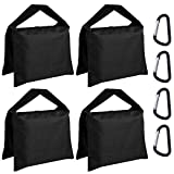 ABCCANOPY Sandbag Saddlebag Photography Weight Bags for Video Stand,4 Packs (Black)