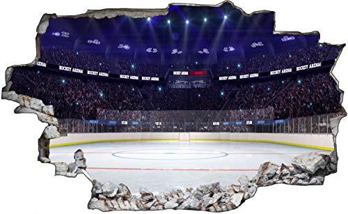 Eishockey Sport Stadion Feld Wandtattoo Wandsticker Wandaufkleber C1858 Größe 70 cm x 110 cm