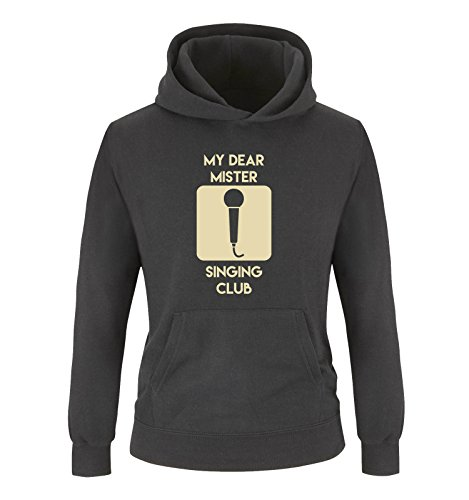Comedy Shirts - Sweat-Shirt à Capuche - Manches Longues - Fille - Noir - Large