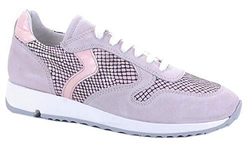 Binks Damenschuh Damen-Sneaker Hellrosa mit Snakeprint NEU Gr. (41)