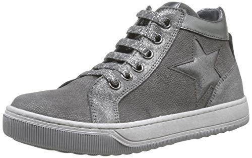 Naturino Mädchen Clay Star Zip Hohe Sneaker, Grau (Grigio/Acciaio 1b16), 31 EU