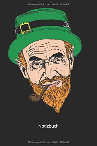 Notizbuch: Irische Kobold für Irland Liebhaber (Liniertes Notizbuch mit 100 Seiten für Eintragungen aller Art)