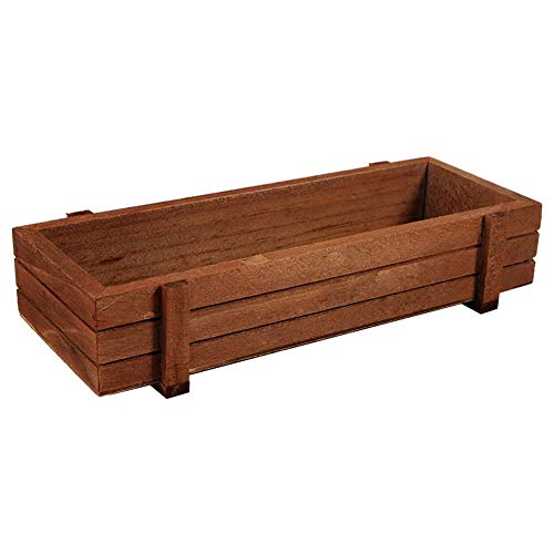 URRNDD Planter Box Wooden Herb Flower Succulent Planter Box Home Garden Rectangle Storage Box Indoor/Outdoor 8.9 x 3.3 x 1.6inch