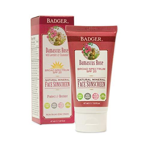 Badger - Damaskus Rose SPF 25 Gesicht Sunscreen - 1.6 Unze.