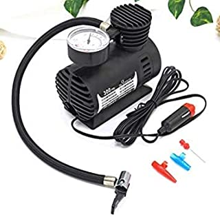 MNZ Air Compressor for Car and Bike 12V 300 PSI Tyre Inflator Air Pump for Motorbike,Cars,Bicycle,Football,Cycle Pumps for...