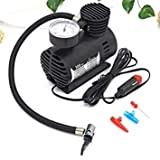 Magnova Air Compressor for Car and Bike 12V 300 PSI Tyre Inflator Air Pump for Motorbike,Cars,Bicycle,for Football,Cycle Pumps for Bicycle,car air Pump for tubeless (BLACK)