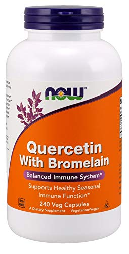 Now Foods Quercetin with Bromelain Capsules, 240-Count
