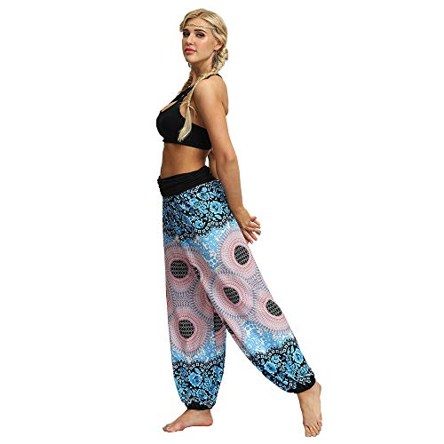 Pantalonsokken Print yoga broek Loose Fit Bohemian Lounge Pants Baggy dames Broek