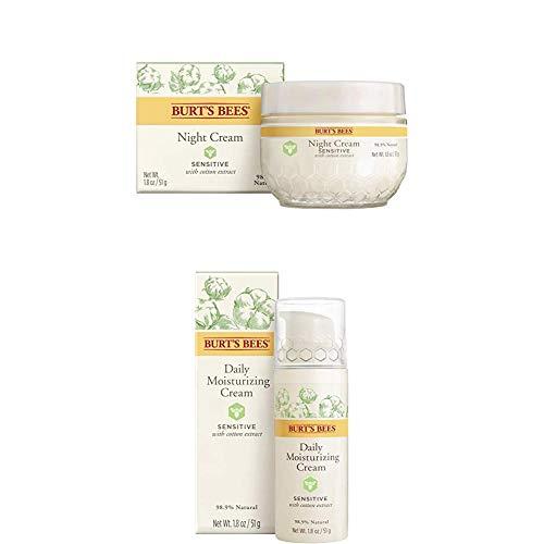 Burt's Bees Nachtcreme für empfindliche Haut mit Baumwollextrakt, 1er Pack (1 x 50 g) + Natürlich...