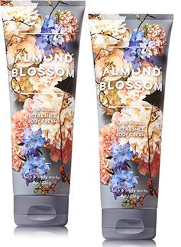 Bath and Body Works 2 Pack Almond Blossom Ultra Shea Body Cream 8 Oz.