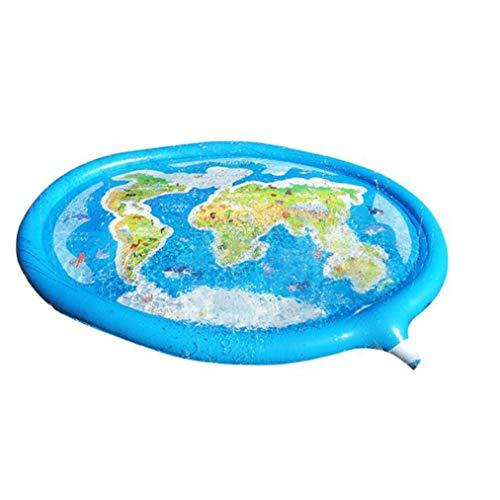 Qinmao Aufblasbarer Sprinkler Für Kiddie Pool Niedliche Musterkarte über Dem Boden Aufgeblasener Sprinklerpool Für Wasserspielzeug Im Freien