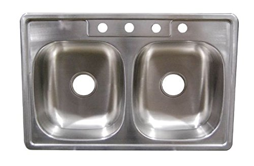 33' x 19' x 6' Deep Stainless Steel Kitchen Sink for Mobile Homes