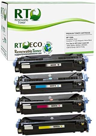 Renewable Toner Compatible Toner Cartridge Replacement for HP 124A Q6000A Q6001A Q6002A Q6003A product image