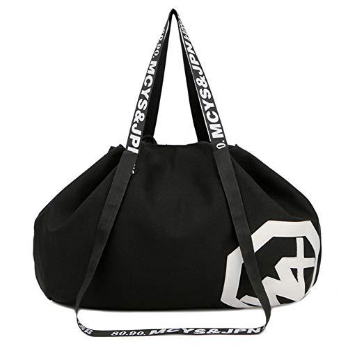 REW Travel Duffle Bag, Nylon Oxford Large Capacity Holdall Handbag, Wet Storage Waterproof Crossbody Satchel, Sports Gym Shoulder Bag for Yoga Hiking Camping 36-55L 1