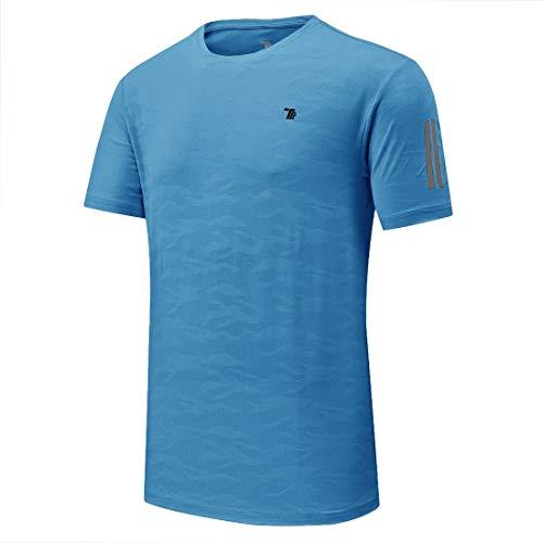 donhobo - Running-T-Shirts für Herren in 01blue, Größe Größe S