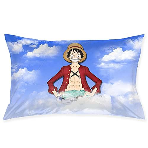 Monke-y D. Luf-fy - Funda de almohada para amigos, funda de almohada para decoración de hogar, sofá, dormitorio, 50,8 x 76,2 cm