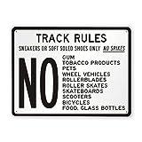 Señal de advertencia, reglas de pista, zapatillas de deporte o zapatos de suela blanda únicamente, señal de tráfico, señal de tráfico, letrero comercial, letrero de hojalata de aluminio de