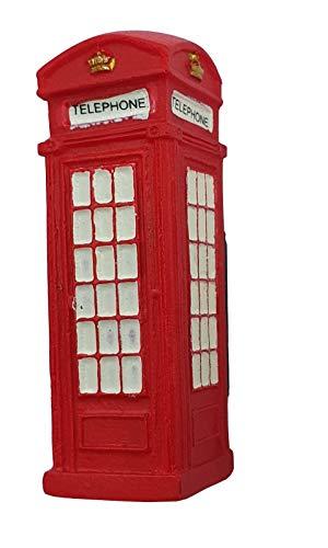 Thomas Benacci London - Magnete per frigorifero in 3D, motivo: cabina telefonica rossa britannica, souvenir da Inghilterra, Regno Unito, decorazione per la casa e la cucina
