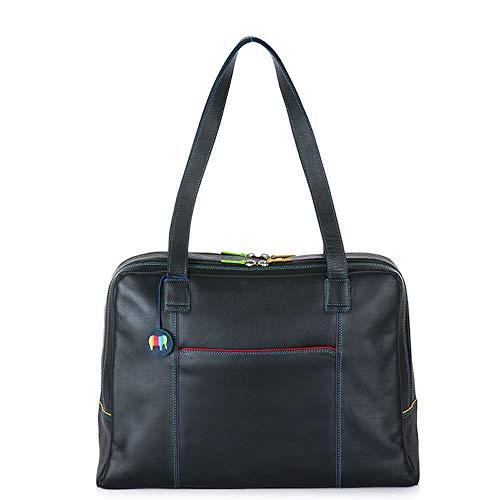 Mywalit 1808 Büro Organizer Handtasche Leder groß, Schwarz - Black Pace - Größe: Large