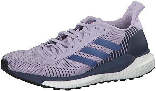 adidas Damen Solar Glide St 19 W Laufschuhe, Blau (Purple Tint/Boost Blue Violet Met./Tech Indigo), 39 1/3 EU