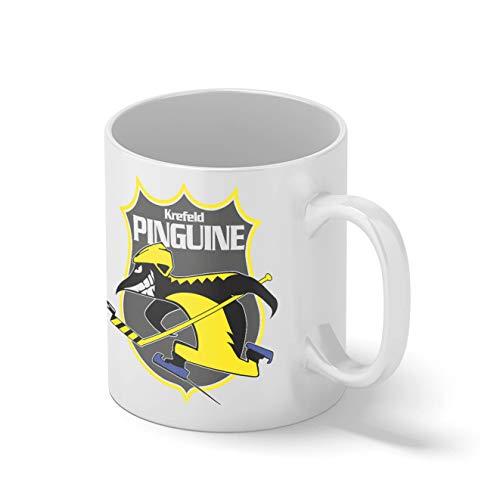 Krefeld Pinguine Eishockey Mannschaft Teamgeschenk Weißer Becher Mug | Lustige Neuheit Tassen für Kaffee Tee 312ml