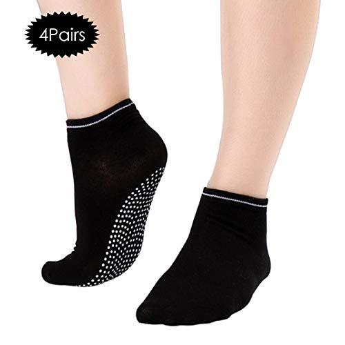 OhhGo Calcetines Yoga 4 Pares Mujeres Calcetines algodón