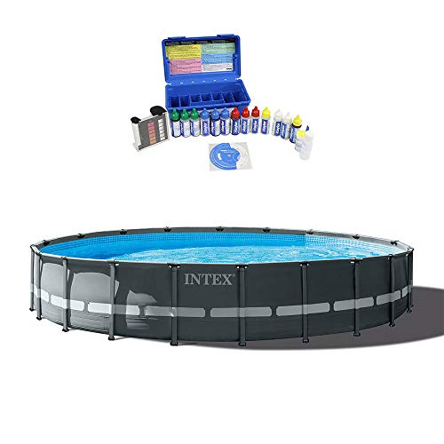 Intex 20ft x 48in Ultra XTR Round Frame Above Ground Pool Set & Water Test Kit