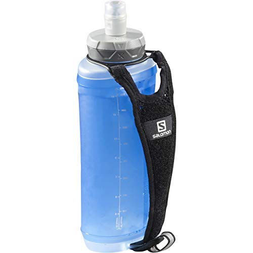 SALOMON Active Handheld PortaBotellas de Mano, SoftFlask de 500 ml incluida, Unisex-Adult, Negro, One Size