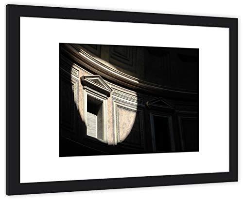 GaviaStore Art Prints - Roma 2 - con Marco 70x50 cm - Cuadros Impresiones Pintura Cartel Foto Mueble hogar impresión decoración casa Sala Poster Cuadro Imagen Enmarcado Wall Picture