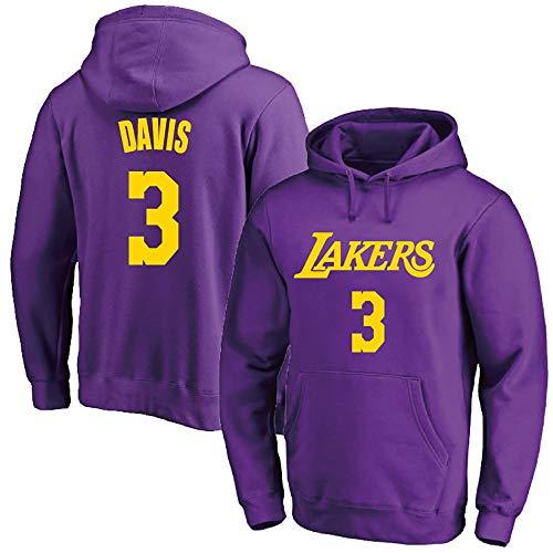 Wanjun Anthony Davis # 3 Sweatshirt mit Kapuze in vier Farben / Geschenk für Basketballfans/Basketball-Trikot/geeignet für Herbst und Winter, für Damen und Herren, A-S