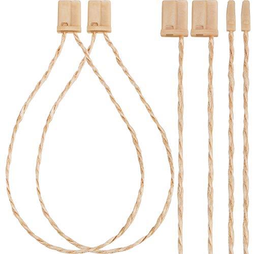 Jovitec 1000 Pack 7 Inch Hang Tag Fasteners Hemp Twine Snap Locks Pin Security Loop