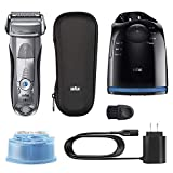 Braun Electric Razor for Men, Series 7 790cc Electric Shaver with Precision Trimmer, Rechargeable, Foil Shaver, Clean & Charge Station and Travel Case