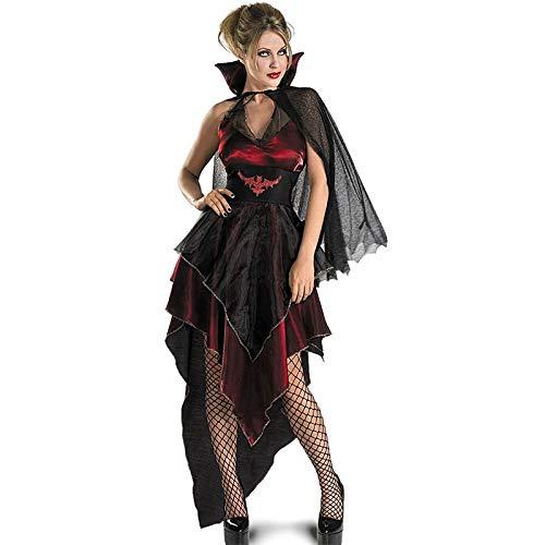 Halloween Zombie Masquerade Kostuums Boze Vampier Koningin Cosplay Zwart Gaas Onregelmatige Geest Bruid Jurk Vampier Bat Kostuum