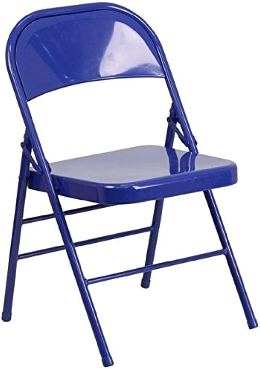 Bowery Hill Metal Folding Chair in bluee