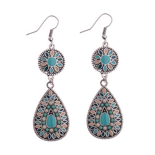 Bohemian Vintage India Ethnic Water Drip Beads Cuelga los pendientes para las mujeres Coloridas Femeninas 2019 Wedding Party Jewelry Gifts 15