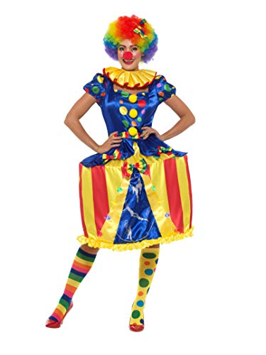 Smiffys Deluxe Light Up Carousel Clown Costume Disfraz de Payaso de carrusel luz, Multicolor, M-UK Size 12-14 (47437M)