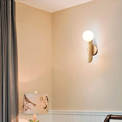 Ronde Witte Glazen Lampenkap LED Warm Licht Wandlamp, Creatieve Bedverlichting Voor Moderne Slaapkamerwand, Beste Keuze Voor Woonkamer, Studeerkamer, Hotelstudio