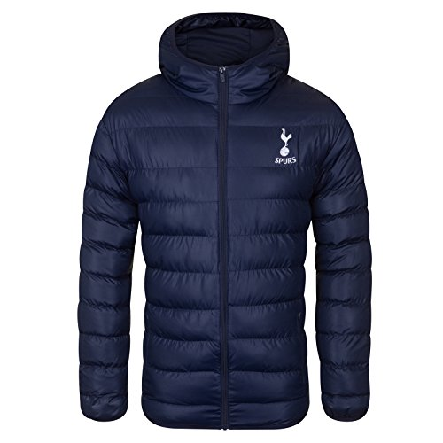 Tottenham Hotspur FC Official Gift Mens Quilted Hooded Winter Jacket Navy Large image