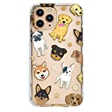 Velvet Caviar Compatible with iPhone 11 Pro Case Dog for Girls - Clear Protective Phone Cases (Pug, French Bulldog, Retriever, Yorkie)
