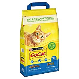 Go-Cat Complete Adult Dry Cat Food with Tuna, Herring and Vegetables, 4 kg