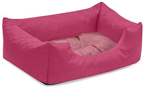 BedDog® colchón para Perro Mimi S hasta XXXL, 26 Colores, Cama, sofá, Cesta para Perro, S Pink/Rose