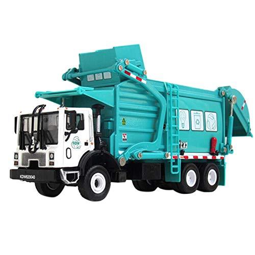 K9CK Müllwagen Modell, Kinder Metallbau-Müllfahrzeug -Fahrzeug Kleine Müllauto Spielzeug für Haus, Garten oder Sandkasten