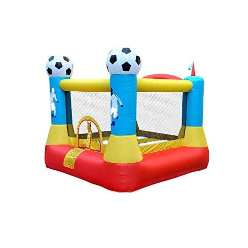 FGVDJ Castillo Hinchable Inflable Casas de Rebote inflables, Castillo Inflable con patín para Fiestas al Aire Libre, Fiesta de fútbol para niños con soplador de Aire