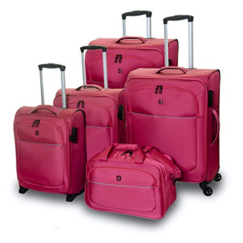 QUBEd Segment 5 Piece Luggage Set