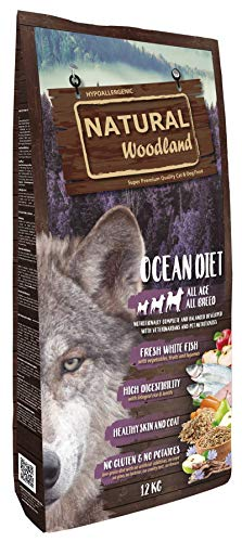 Natural Greatness Pienso Seco para Perros Receta Natural Woodland Ocean Diet. Super Premium. Todas Las Razas y Edades. Sin Gluten (12 Kg)