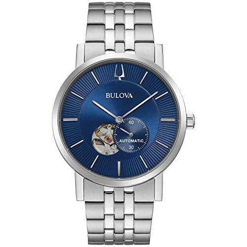 Bulova 96A247 Men's American Clipper Open Heart Blue Dial Watch